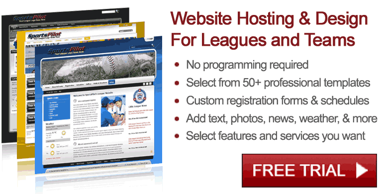 Sports websites for leagues and teams