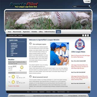 sports league website sample